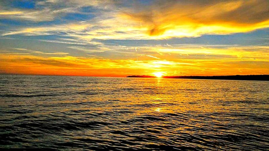 Sunset Sea Nature Tranquil Scene Tranquility Dramatic Sky Sky Horizon Over Water Summer Idyllic No People Vacations Outdoors Beauty In Nature Reflection Cloud - Sky Sun Water