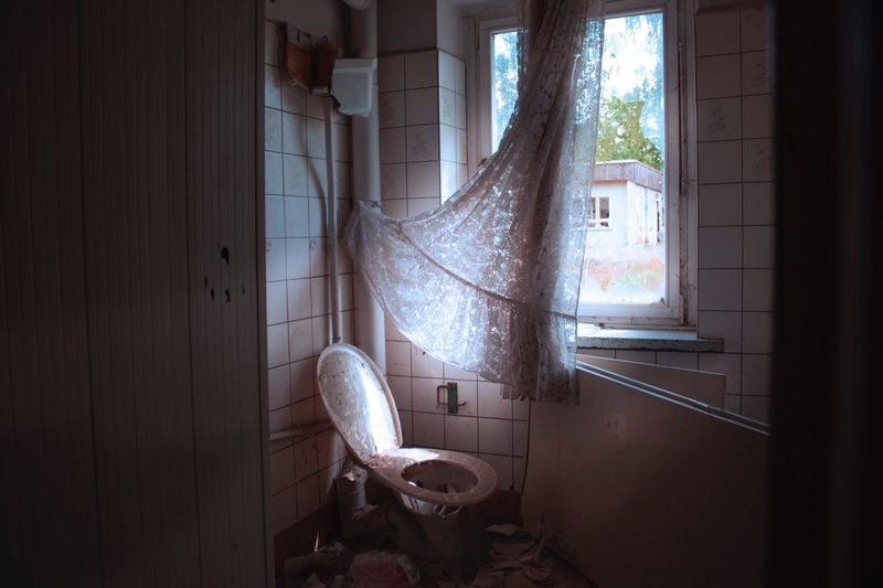 Interior Of Abandoned Bathroom