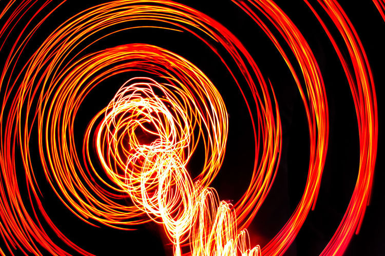 Abstract image of light painting at night