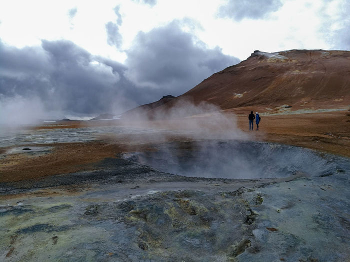 Geothermal  Lunar Landscape Mars Geyser Natural Landmark Volcanic Activity Active Volcano Canyon Geology Volcanic Crater Physical Geography Rocky Mountains Heat Sandstone Foggy Sulphur