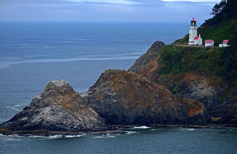 Oregon Coast Oregon Lighthouses Seascape Seaside Coastline