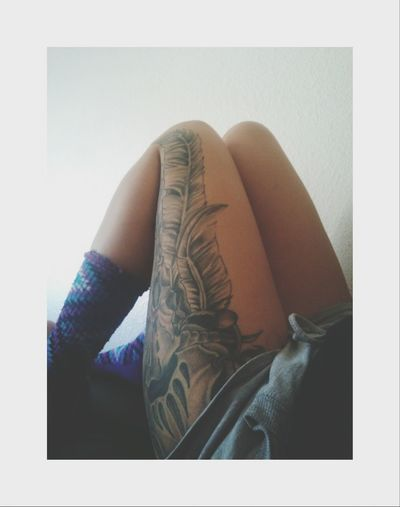 who doesn't love tattoos? Leg Tattoo Tattoo ❤ My Dream Catcher ❤ Cow Skull