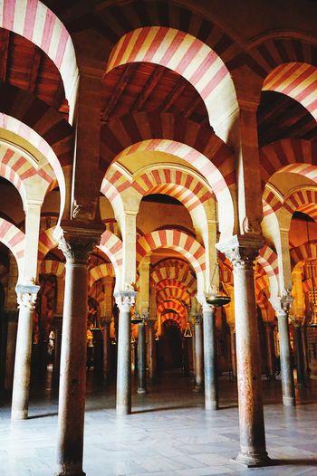 Church Mosque Religion Muslim Arabic Arabic Style Moorish Architecture Andalucía SPAIN España Meditation Lost Forrest Deep Dark Light Shadow EyeEm Selects Architectural Column Arch Architecture Indoors  No People Day