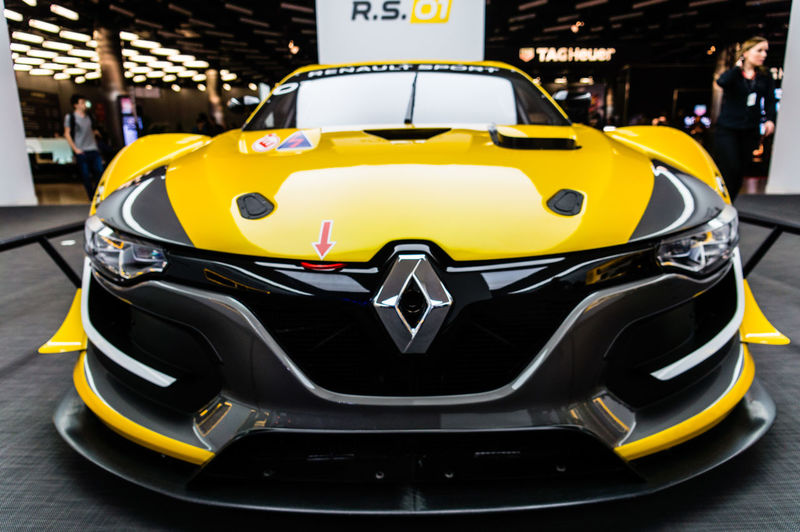 Renault RS01 Auto Show CarShow Day Geneva Illuminated Motorsport People Racecar Renault Renault RS01 RenaultSport Sportscar The Drive Yellow