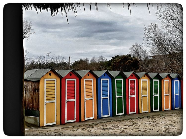 colors 💛 Clouds Eyemcolorphotos EyeEm Gallery CarpeDiem  Good Morning Hello World Multi Colored In A Row Beach Day Outdoors Sand No People Architecture Sky