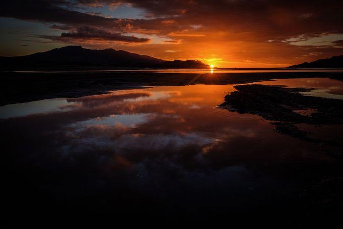 Raglan Harbour, New Zealand Raglan Nz Sunset Reflection Scenics Beauty In Nature Sky Nature Water Landscape Outdoors EyeEmNewHere