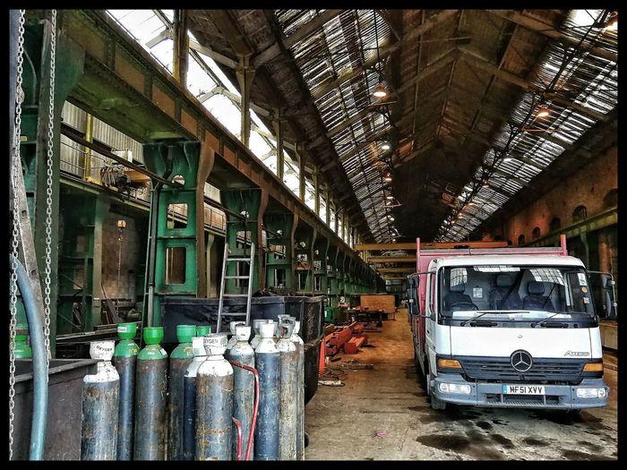 Gas Bottles Factory Land Vehicle Public Transportation Architecture Built Structure