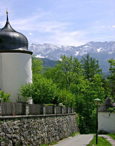 Beauty In Nature Church Tower Mountain Mountain Range No People Non-urban Scene Sky Tranquil Scene Tranquility