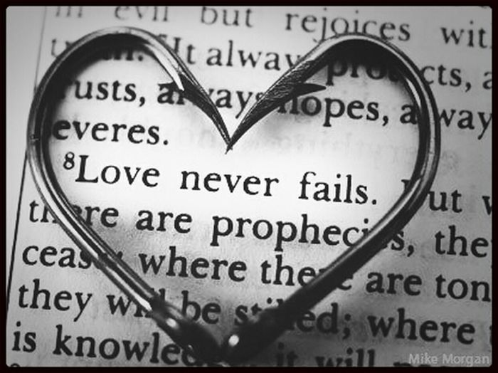 Love never fails Love