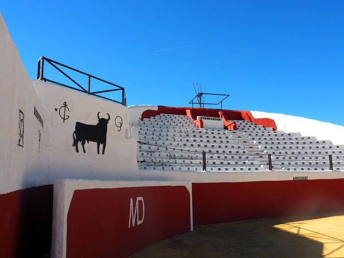 Built Structure Architecture Sky Clear Sky Building Exterior Nature Day No People Building Animal Blue Animal Themes Mammal Red Sunlight Outdoors Wall - Building Feature Domestic Animals Railing Domestic Arena Museum Mijas Pueblo Mijas SPAIN