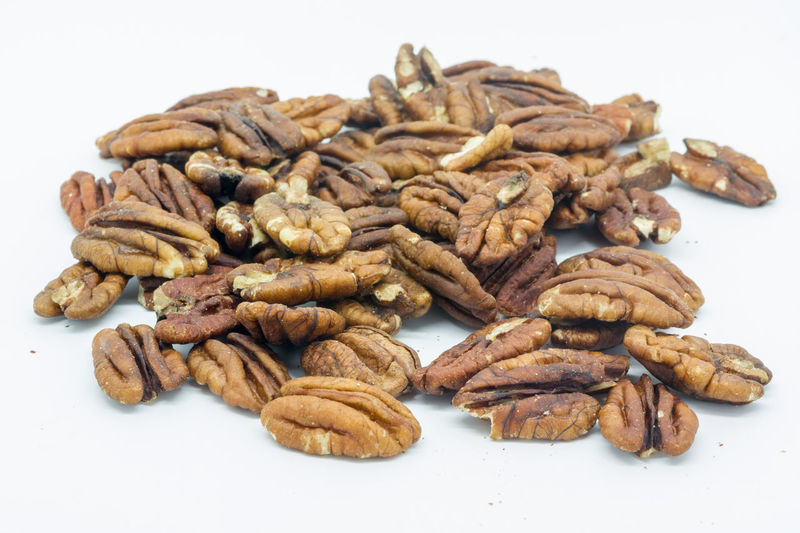 Abundance Brown Close-up Crunchy Food Freshness Healthy Heap Isolated Large Group Of Objects No People Nuts Pecan Nuts Pecans Still Life Studio Shot White Background