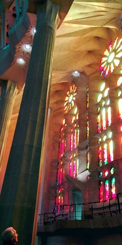 Seeing The Sights Sagrada Familia Beautiful Creation Lights Breathtaking Sun Gazing Stained Glass Love The Moment