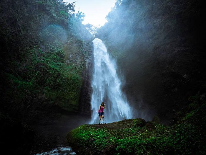 Beautiful waterfall at lumajang east java indonesia