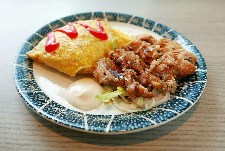 Teriyaki Chicken Served In Plate On Table