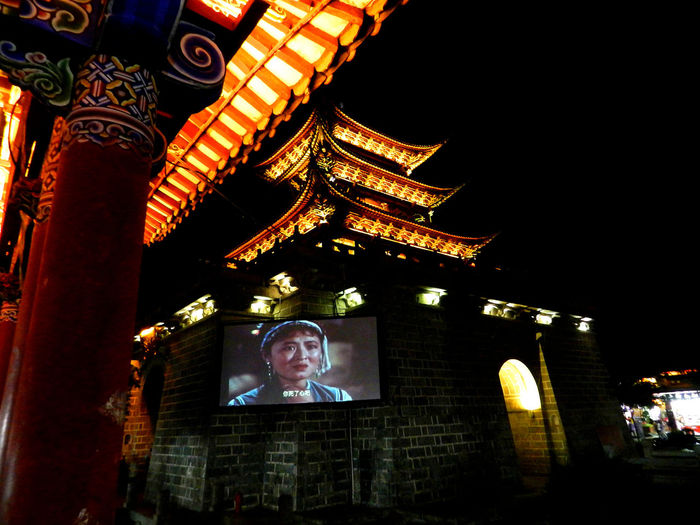 open-air cinema Dali City Yunnan Open-air Cinema HUAWEI Photo Award: After Dark City Illuminated Religion Spirituality Architecture Built Structure Building Exterior Arch Triumphal Arch Mosque