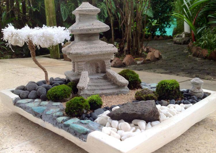 the temple, Miniature Mini Zen Garden DIY