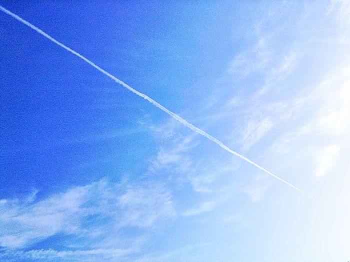 Vapor Trails Clouds And Sky 飛行機雲