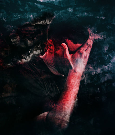 red thoughts Art Artistic Artistic Vision Choice Conceptual Deep Thoughts Dreamy Expression Fine Art Fine Art Photography Male Male Portrait Meditation Moody One Person Portrait Portrait Photography Portraiture Red Sorrow Vision