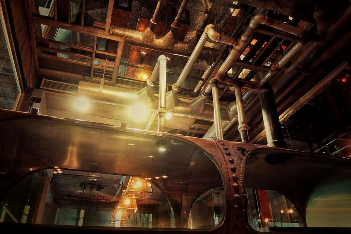 43 Golden Moments Old Factory Old-fashioned Ceiling Pipe-Grid Pipe - Tube 専門用具萌 Rusty Architectural Detail Gold Light Lighting Light And Shadow Full Frame Eye4photography  EyeEm Best Shots EyeEm Best Edits EyeEm Gallery Exceptional Photographs 2015.12.02 at 台中市第四信用合作社 二樓 in Taichung, Taiwan