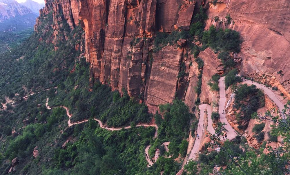 Way to Angels Landing Zion National Park Utah