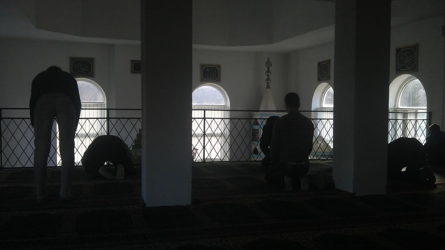 People Praying in the Mosque, Fojnica, Bosnia And Herzegovina