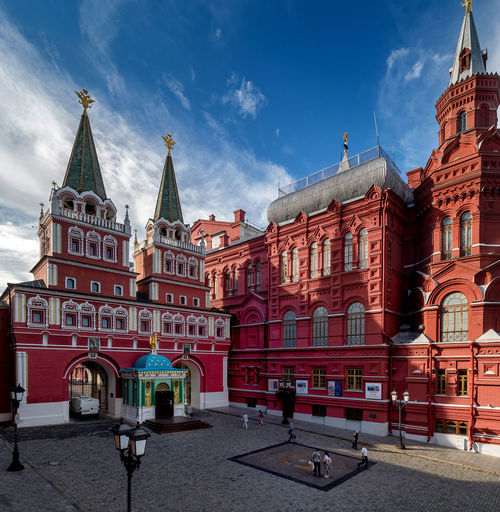 Russia, Moscow. the old town, the Iberian gate, Red square, the Kremlin, holiday, history, Historical Museum Holiday Moscow Red Square Russia Architecture Building Exterior Built Structure City Cloud - Sky Day Historical Museum History No People Outdoors Place Of Worship Sky Street The Iberian Gate The Kremlin The Old Town Travel Destinations