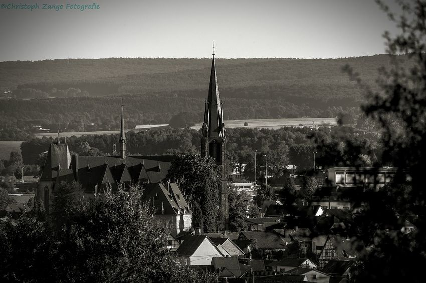 "My Home City Church ""Wirgeser Dom"" Architecture City Cityscape Tower Sky Travel Destinations No People Day Nature Landschaft B&w Photography Nikonphotography Church Wirges Westerwald"