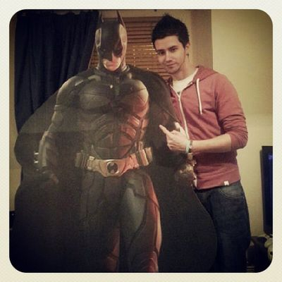 Had a special visitor round at the flat :p Batman Darkknight Batmanfamily DC Dcuniverse