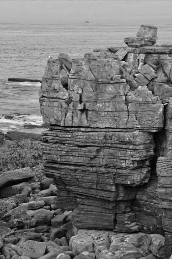 Rock Formation Rock Stone Stones & Water Nature Water Hdr_Collection HDR Black And White Monochrome Portugal Atlantic Ocean Coast Beautful Nature Beautiful View Canon Eos 350d The Great Outdoors With Adobe