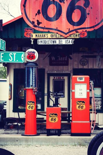 Route 66 Sign Route 66 Vintage Photography Vintage Fuelling Communication Text Western Script Sign Architecture Built Structure Building Exterior Commercial Sign