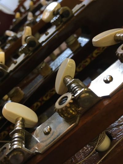 Knob Guitars Tuning Necks Strings Close Up All In A Row Guitar Neck Instruments Music Musical Instruments