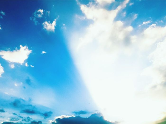 Cloud - Sky Blue Sky Nature Day Low Angle View Beauty In Nature