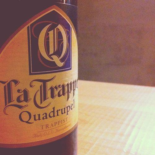 La Trappe Quadrupel Beer Drink Gothic Design Birra La Typo Letters Trappist Label Lettering Belgian  Trappe Quadrupel