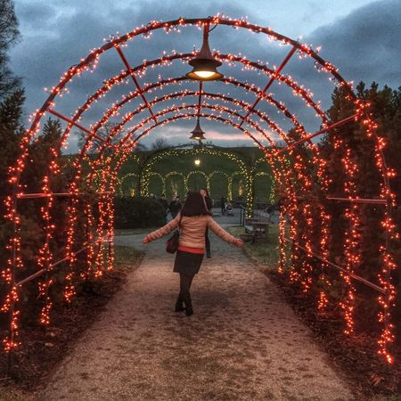 LongwoodGardens Night Lights Holiday Full Length One Person Cloud - Sky Travel Destinations Outdoors People Sky Architecture Cultures Adults Only One Woman Only Day Adult