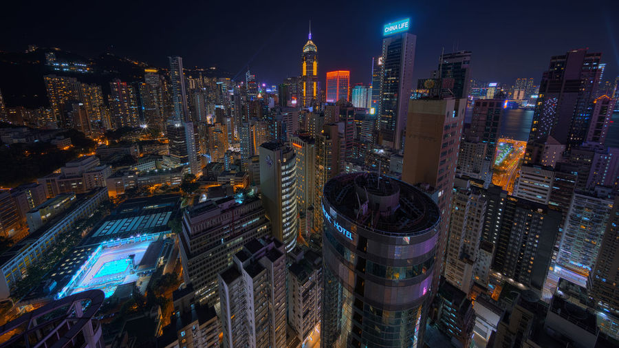 Over the top EyeEmBestPics Architectural Column EyeEm Gallery EyeEmNewHere Eyeemphotography EyeEm Best Shots EyeEm Masterclass Eye4photography  EyeEmBestPics Causeway Bay Twilight Architecture Building Building Exterior Built Structure City City Life Cityscape Crowd Crowded High Angle View Illuminated Modern Night Nightlife Nightscape Office Building Exterior Residential District Skyscraper Urban Skyline