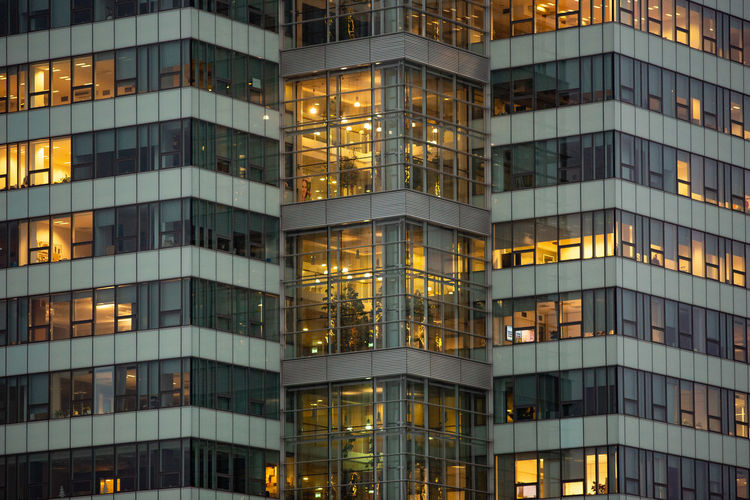 Architecture Built Structure Building Exterior Full Frame Modern Illuminated City Building Night No People Office Building Exterior Office Backgrounds Outdoors Low Angle View Window Glass - Material Dusk Pattern Skyscraper Apartment Twilight Office