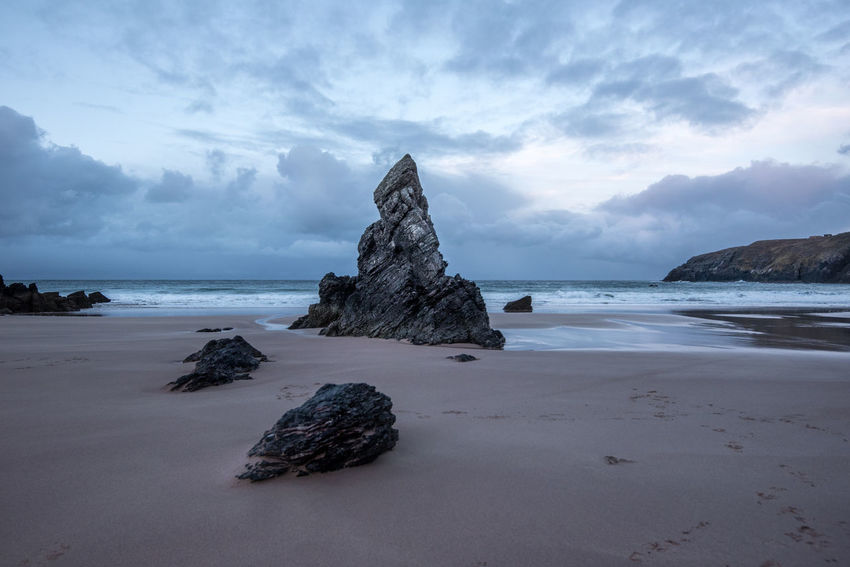 Beach Beauty In Nature Cloud - Sky Day Durness Horizon Over Water Nature No People Outdoors Rock - Object Rocks Sand Scenics Scotland Scott Sea Sky Sunset Tranquil Scene Tranquility Water