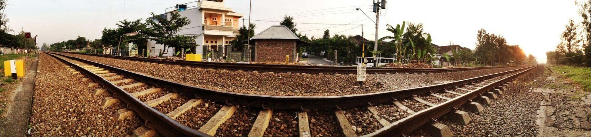 Rail way panorama. Railwah Surakarta Panorama