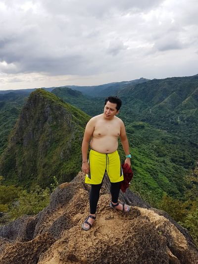 When having a beautiful body at the top of the mountain is too mainstream, then let's show the reality. haha Nokia 808 Pureview  Nokia808Pureview Dadbod Front View Topless Hiker Climbing Running Shorts Mountain Climbing