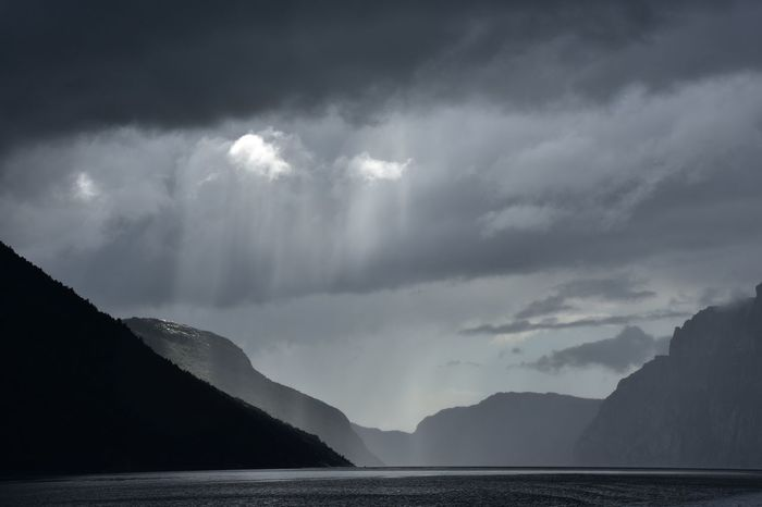 Fjordsofnorway Lysefjord Norway Trip Beauty In Nature Boat Cloud - Sky Day Fjord Lights And Shadows Mountain Nature No People Outdoors Scenics Sea Sky Tranquil Scene Tranquility Water