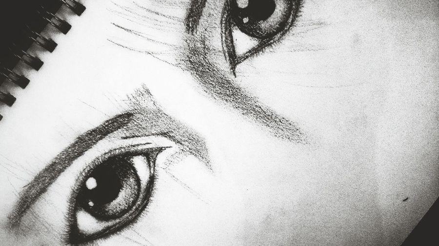 Eyes Eyeemphoto Blackandwhite Hopeyoulikeit Art, Drawing, Creativity Boredom