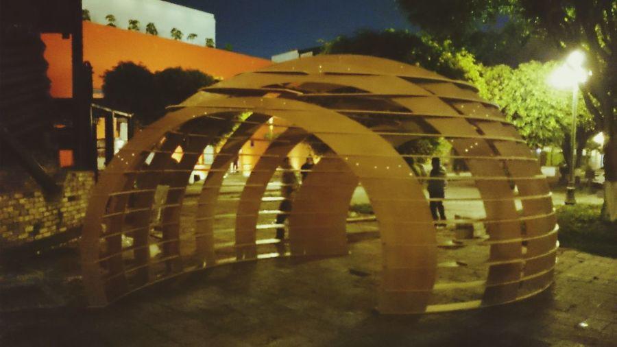 Cephyr Pavilion 1:1 model Architecture Pavilion Mexico School