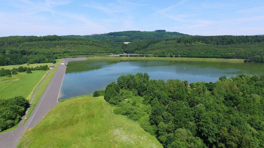 A small dam in germany Dam Deutschland Forest Landscape Landschaft Nature Reservoir Reservoir Dam River Rückstaubecken Staudamm Stausee Wasser Water