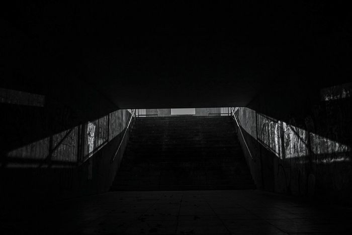 ~ I✴~ Staircase The Way Forward Steps And Staircases No People Built Structure Steps Railing Architecture Blackandwhite Monochrome Light And Shadow Getting Inspired Black & White Outdoors Shadow Street Photography Lines And Shapes Street Geometric Shape Light And Darkness  Urban Urban Exploration Urban Geometry Night Welcome To Black