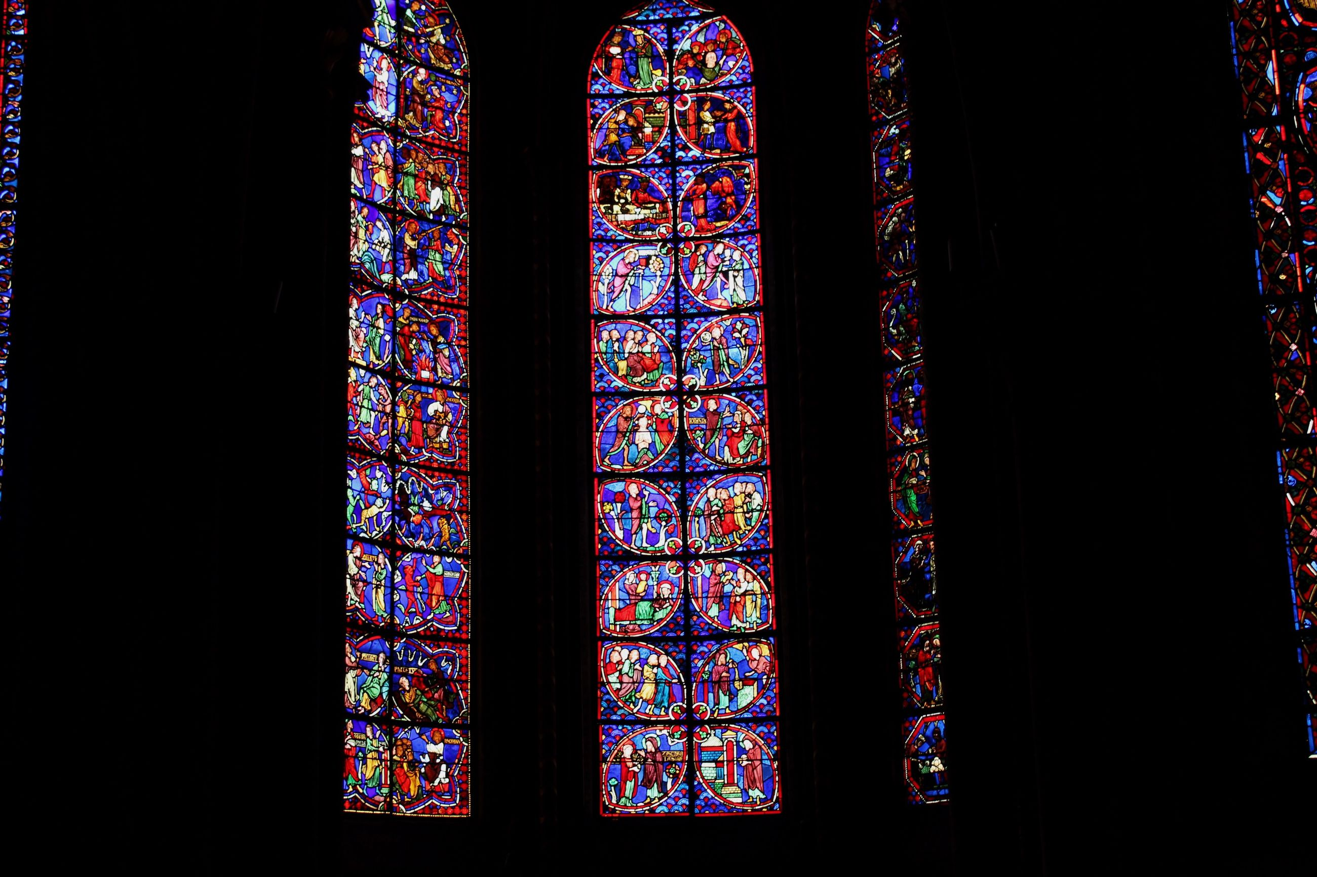 window, stained glass, indoors, multi colored, design, dark, church, darkroom, place of worship, colorful, art product, interiors, geometric shape, architecture and art