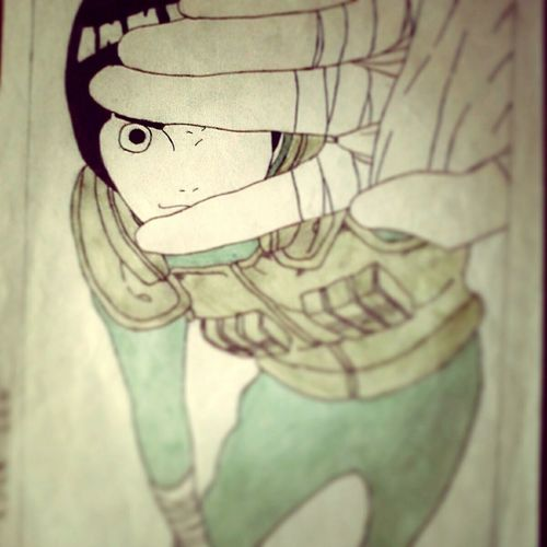Drawing Drawing By Me Drawing, Painting, Artwork Narutofan Narutolovers Narutoshippuden Narutodraw Rocklee