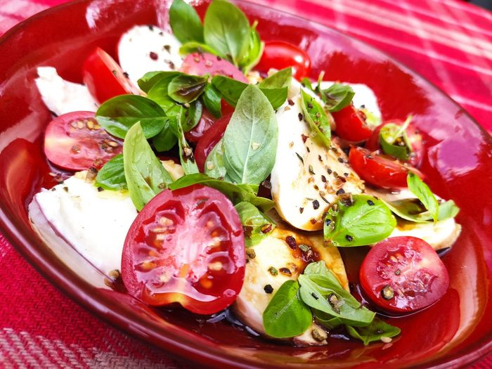 Close-up of salad in plate