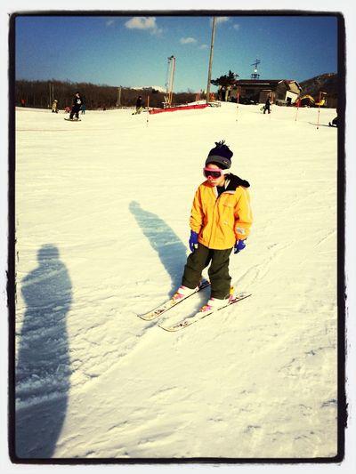 first ski Cousin Winter