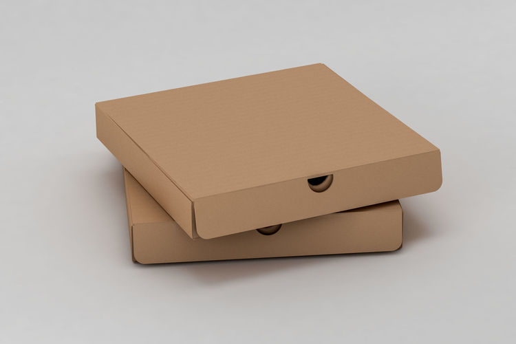 Close-up of box over white background