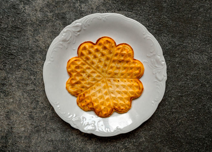 Swedish waffle on stone Scandinavian Food Swedish Waffle Waffles Abundance Close-up Day Delicacy Delicious Directly Above Food Food And Drink Freshness Healthy Eating Indoors  No People Nordic Plate Ready-to-eat Studio Shot Swedish Culture Swedish Food Sweet Food White Background Yellow